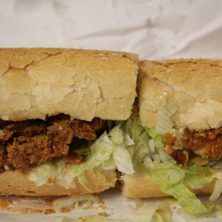 NOLA Poboys, New Orleans, boudin, soft shell crab poboy, poboy, tastes like travel, www.tastesliketravel.com, bourbon street, New Orleans Food, chalkboard menu, Soft Shell Crab Poboy, Soft-Shell Crab Poboy, best poboys